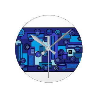 Horloge Ronde blue summer