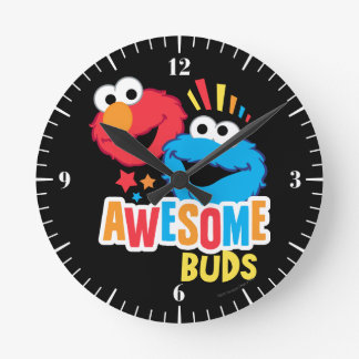 Horloge Ronde Bourgeons impressionnants d'Elmo et de biscuit