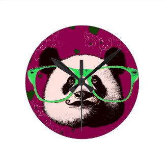 Horloge Ronde Cadeaux pour les ours de pandas mignons de filles