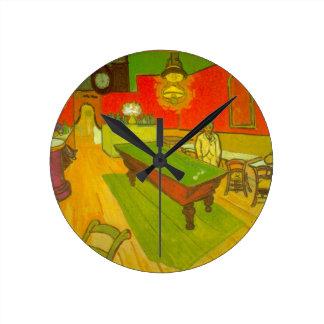 Horloge Ronde Café de nuit de Van Gogh, beaux-arts vintages