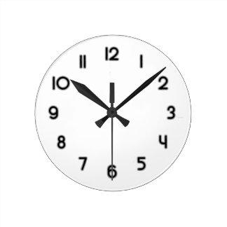 Horloge Ronde Calibre noir d'horloge