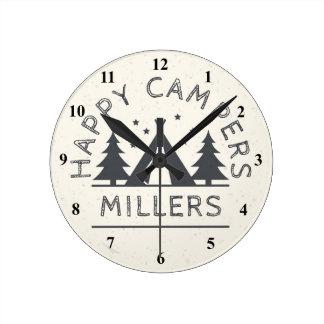 Horloge Ronde Camping rustique personnalisé de tente des