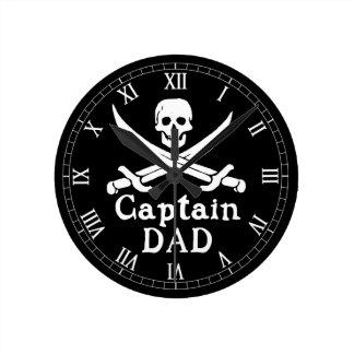Horloge Ronde Capitaine Dad - classique
