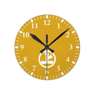Horloge Ronde Caractère de kanji Jo en cercle