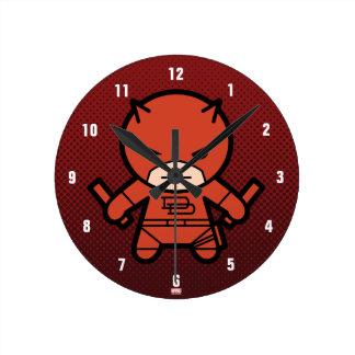 Horloge Ronde Casse-cou de Kawaii avec les bâtons courts