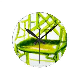 Horloge Ronde chaise de chinoiserie pour la carte d'endroit
