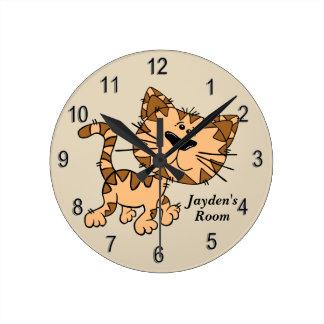 Horloge Ronde Chaton mignon de l'horloge de l'enfant