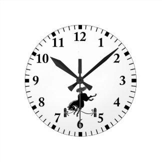 Horloge Ronde Cheval attaché de Soma