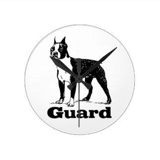 Horloge Ronde Chien de garde Boston Terrier