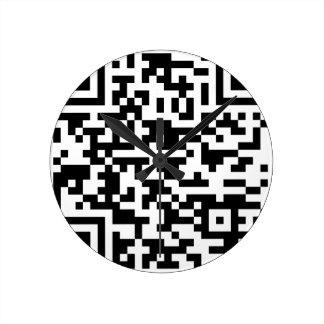 Horloge Ronde Code de Bitcoin QR d'échantillon