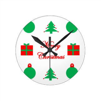 Horloge Ronde Conception de Joyeux Noël