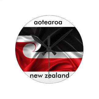 Horloge Ronde conception de la Nouvelle Zélande d'aotearoa