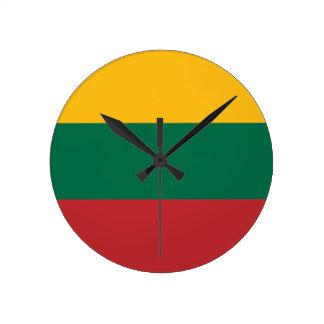 Horloge Ronde Coût bas ! Drapeau de la Lithuanie