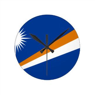 Horloge Ronde Coût bas ! Drapeau des Marshall Islands
