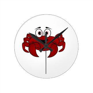 Horloge Ronde Crabe de bande dessinée