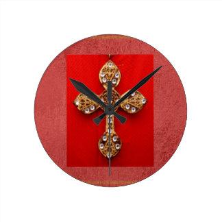Horloge Ronde Croix fatiguée du diamant Art101 VINTAGE
