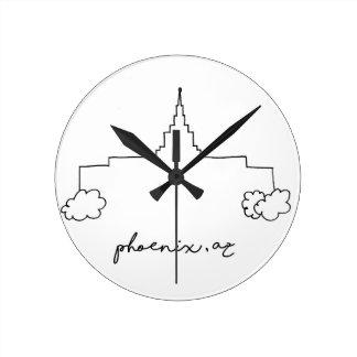 Horloge Ronde croquis moderne simple de temple de Phoenix