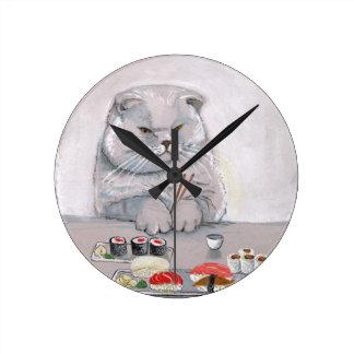 Horloge Ronde ©CSiravo de M. Grumps de chat de sushi