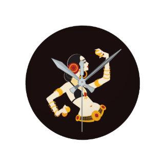 Horloge Ronde danseuse du ventre tribale de fusion avec des