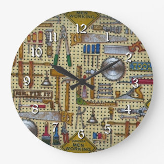 Horloge ronde de mur de M. Fix It Handyman Tools