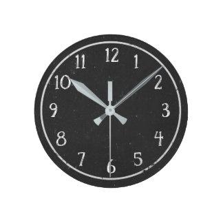 Horloge ronde de tableau rustique moderne de Faux