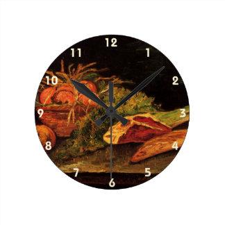 Horloge Ronde De Van Gogh de pommes de viande de roulade de cru