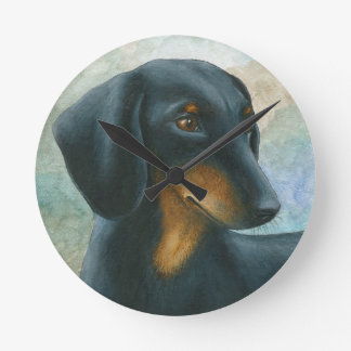 Horloge Ronde Dog 90 Dachshund Teckel
