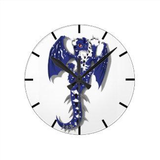 Horloge Ronde Dragon mignon de monstre