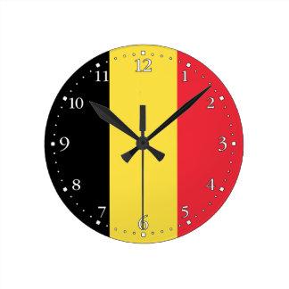 Horloge Ronde Drapeau belge patriotique