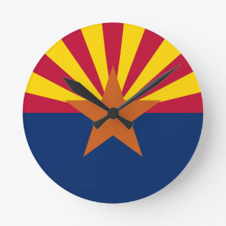 Horloge Ronde Drapeau de l'Arizona