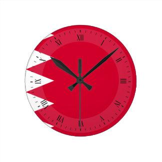 Horloge Ronde Drapeau du Bahrain