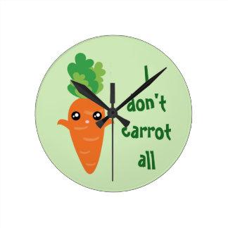 Horloge Ronde Drôle je ne fais pas carotte toute la bande