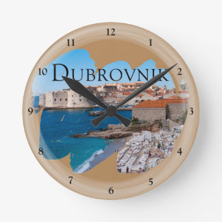 Horloge Ronde Dubrovnik avec une vue