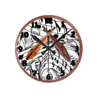 HORLOGE RONDE DULCIMER-CLOCK