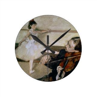 Horloge Ronde Edgar Degas | la leçon de danse, c.1879