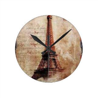 Horloge Ronde Eiffel Tower vintage Paris