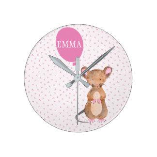 Horloge Ronde Enfants de souris de région boisée/horloge murale