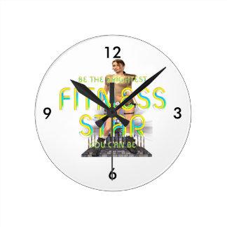 Horloge Ronde Étoile SUPÉRIEURE de forme physique