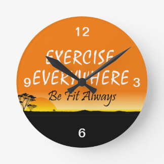 Horloge Ronde Exercice SUPÉRIEUR partout