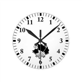 Horloge Ronde fans Papillon-formées (Ageha)