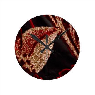 Horloge Ronde Feuille d'or Art101 VINTAGE