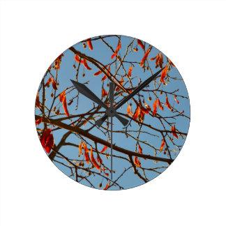 Horloge Ronde Feuilles d'automne