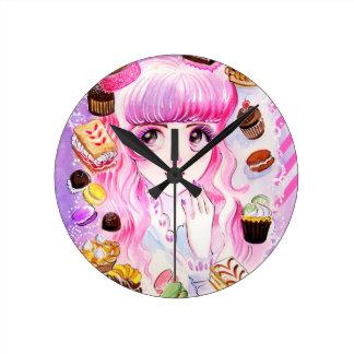 Horloge Ronde Fille de boulangerie