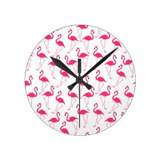 Horloge Ronde Flamant