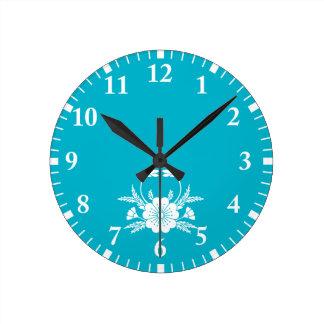 Horloge Ronde fleurs de cerisier Crabe-formées (EDO)