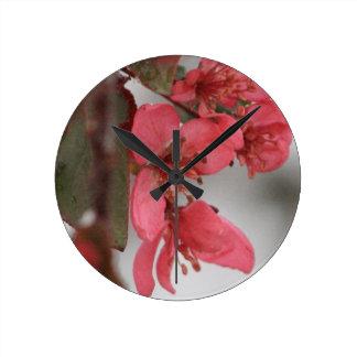 Horloge Ronde Fleurs de pomme sauvage