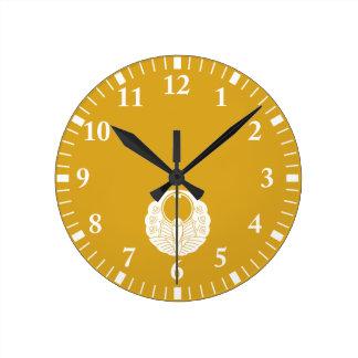 Horloge Ronde Fusen-style butterlfy