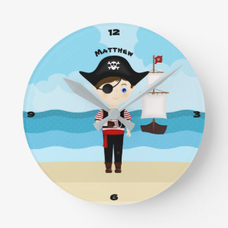 Horloge Ronde Garçon de pirate