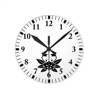 Horloge Ronde gentiane Crabe-formée