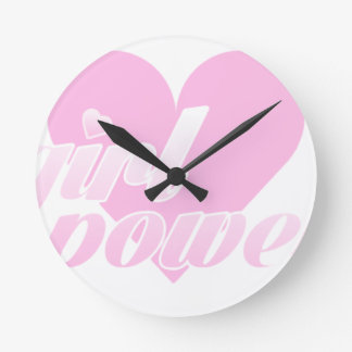 Horloge Ronde girl power